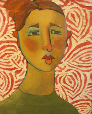 """Kathy Sosa  """"Patricia on Pattern""""  I like the background pattern out of oil."""