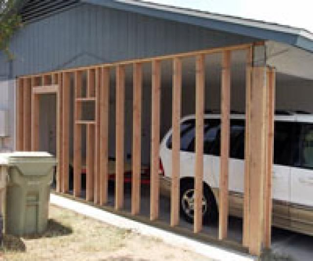 Checklist for a Carport to Garage Conversion