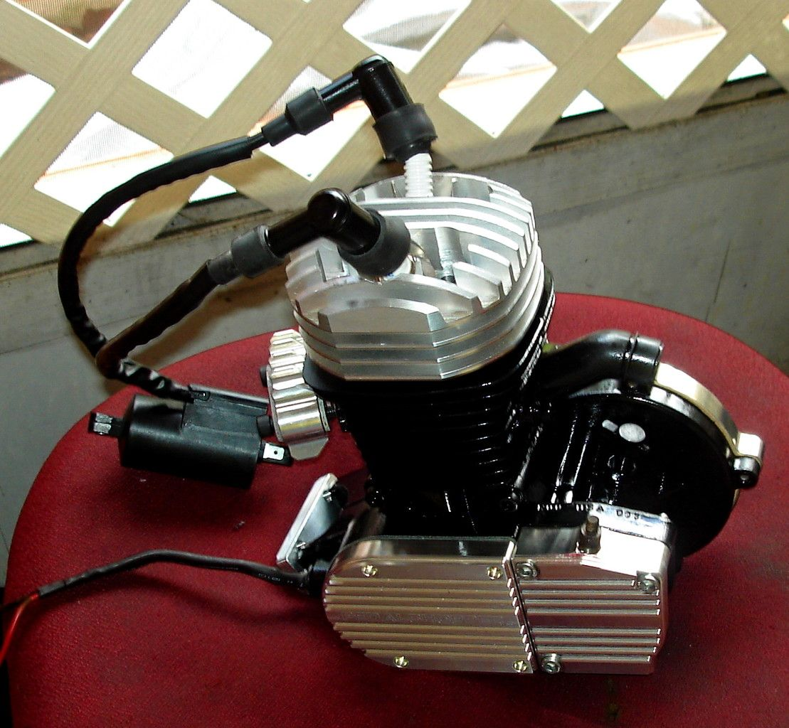 V Twin Style High Compression Hemi Spherical Head Dual Fire