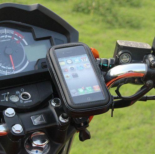 Moto bicicletta supporto del telefono mobile supporto del basamento del telefono per il iphone 7 SE 6 S 6 plus S7 GPS Holder Bike Con La Custodia Impermeabile borsa