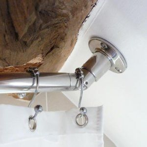 Partial Sloped Ceiling Shower Rod