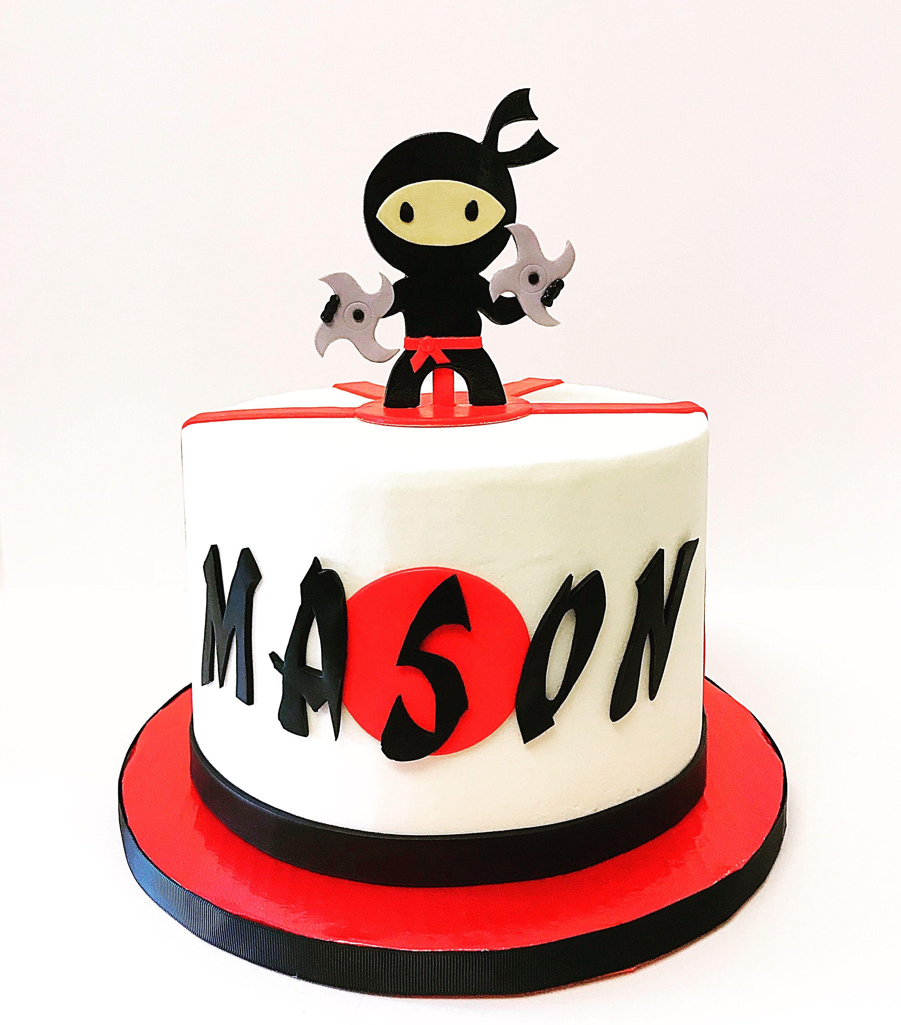 Stupendous Ninja Cake With Images Ninja Birthday Cake Ninja Cake Ninja Funny Birthday Cards Online Hendilapandamsfinfo