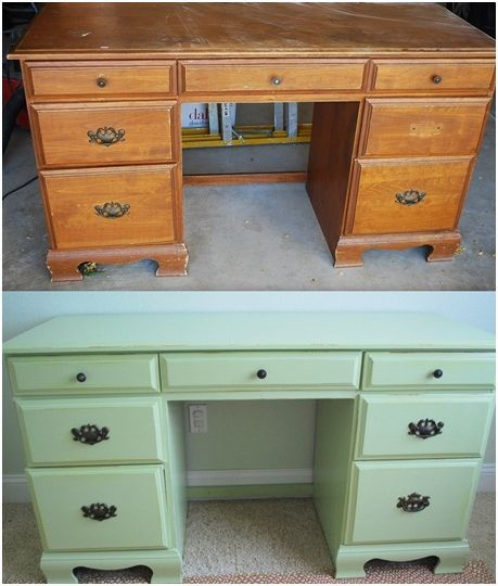 Painted Desks this girl's web site makes me want to buy old furniture at a