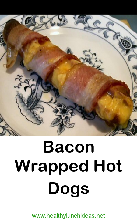Bacon Wrapped Hot Dogs Cheddar cheese Dairy Products