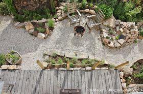 garten gestaltung naturnah schotter holz natursteine gemüsegarten, Gartenarbeit ideen