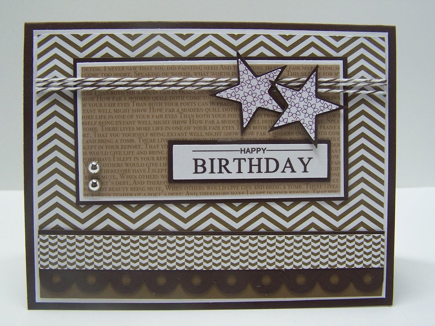 Stampin Up Handmade Greeting Card Happy Birthday Masculine Husband