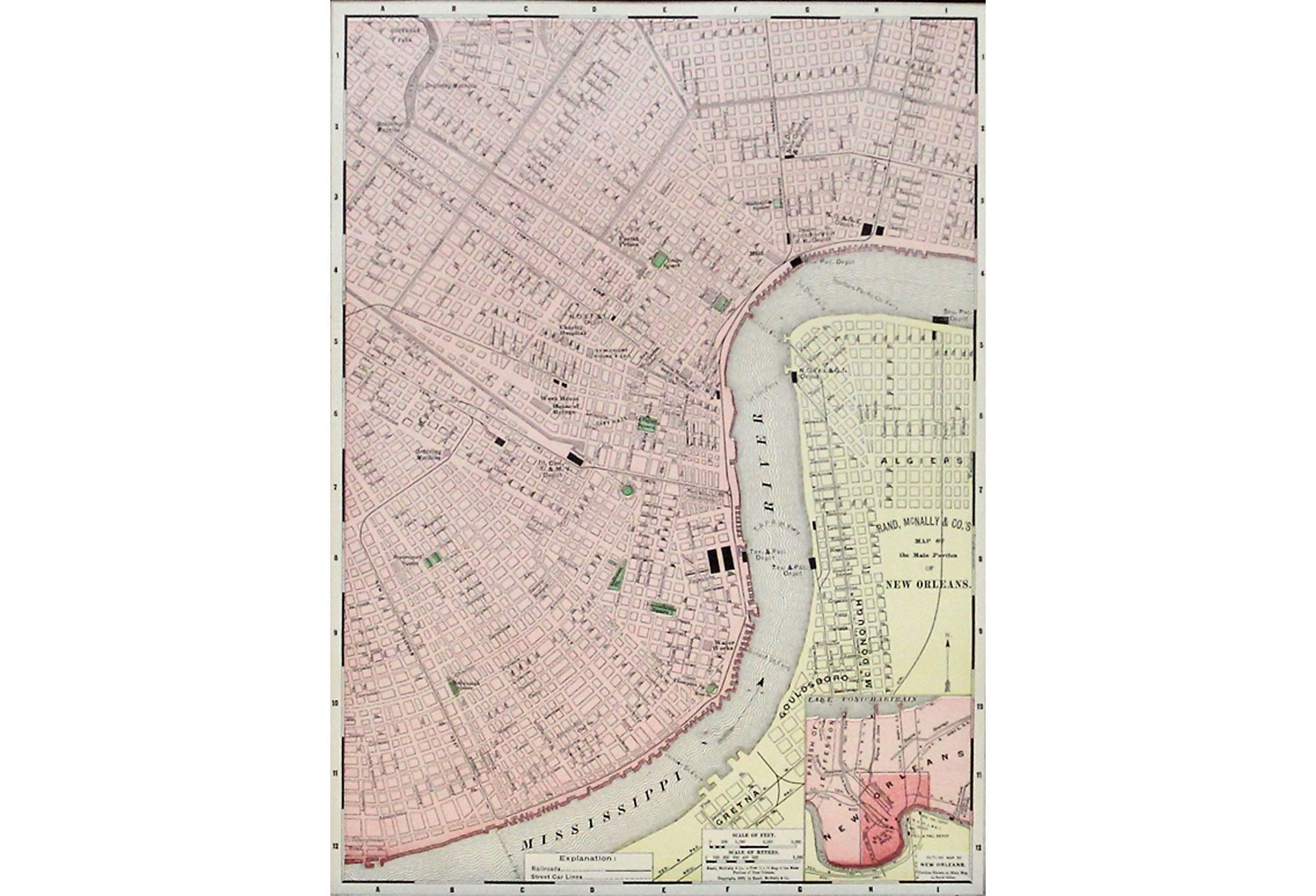 Maps as Art - New Orleans Map, 1899