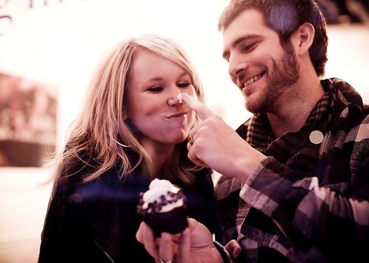 Alan and Brycie Powell. They are so adorable! | This would be a great engagement picture!