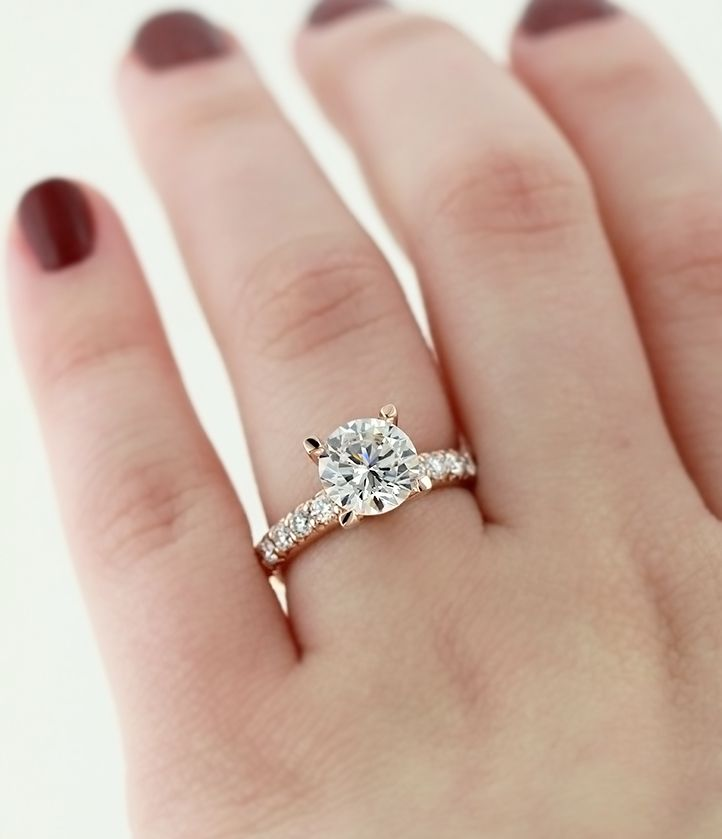 Engagement Ring Goals Rose Gold Tyra Engagement Ring For Real