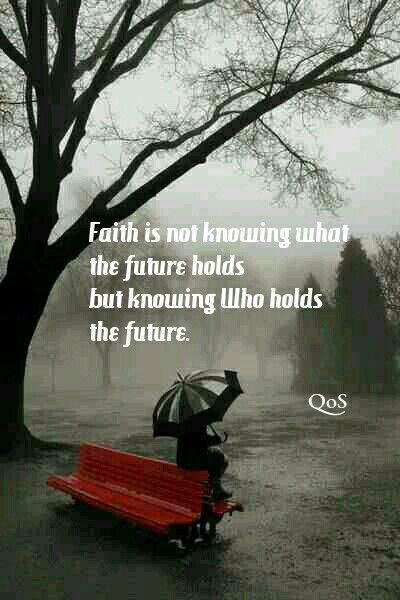 DesertRose,;,Faith is not knowing what the future holds ...