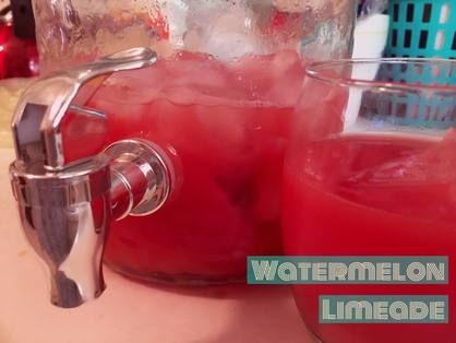 Watermelon Limeade http://www.twohensandtheirchicks.com/recipe-watermelon-limeade.html