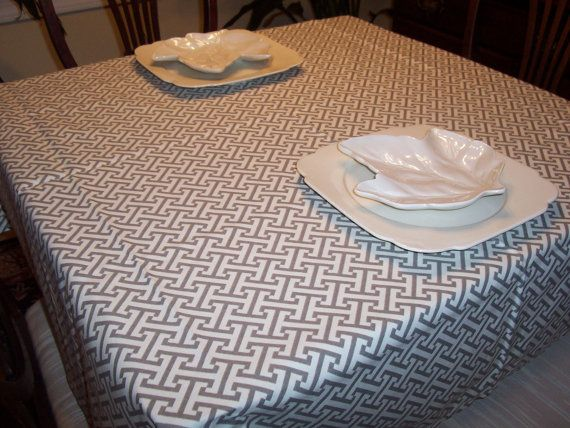 Custom Tablecloth Waverly Cross Section Gray 54 X 84 By HomeLush, $48.99  @Anna Taggart