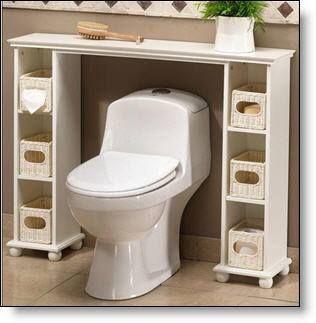 Mueble para atras de la taza del ba o de abajo ideas for Manija para taza de bano