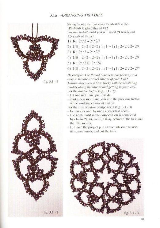 Gallery.ru / Фото #46 - Beanile lace frywolka i koraliki Nina Libin - mula