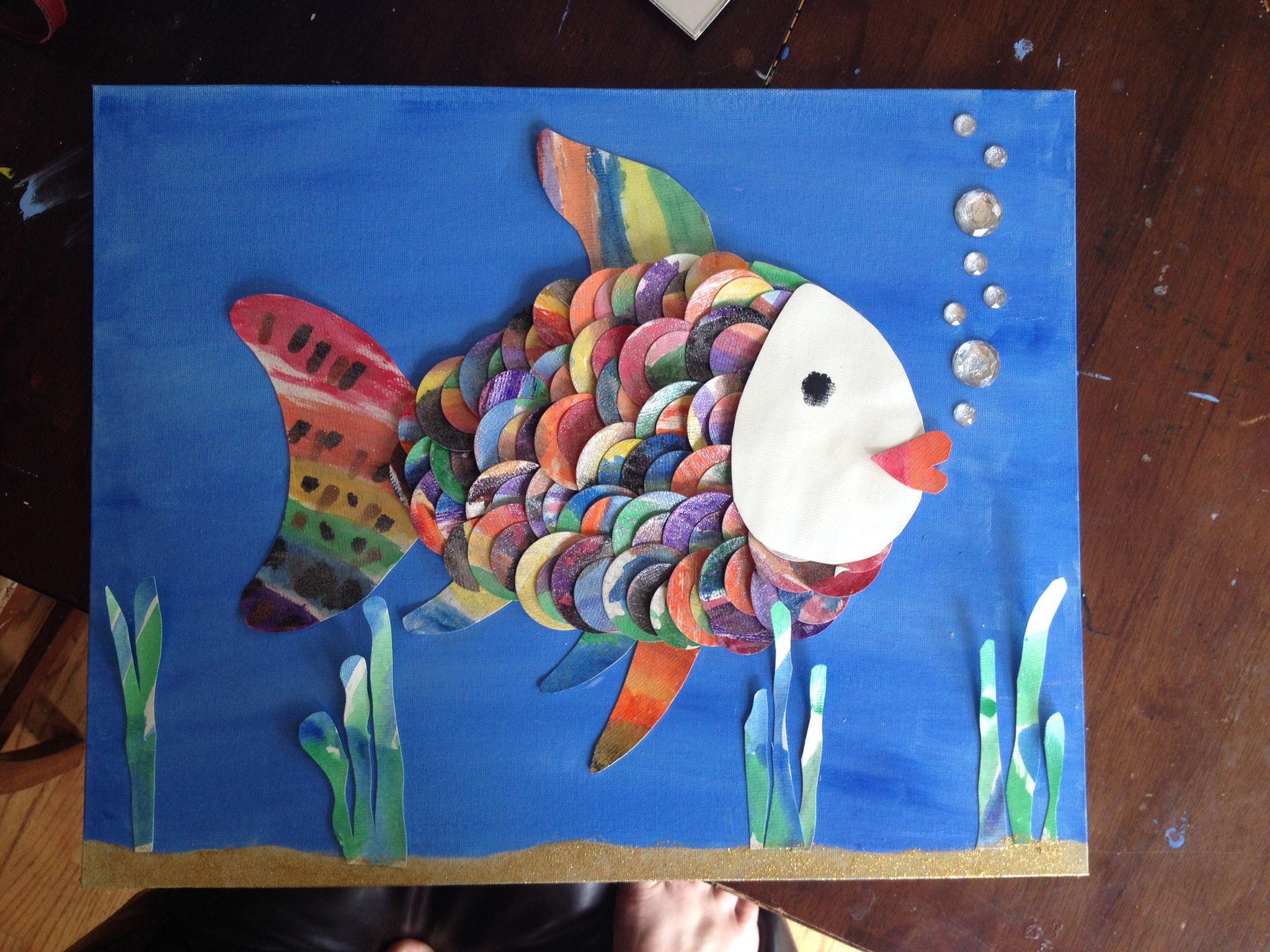 Kindergarten Rainbow Fish Art Auction