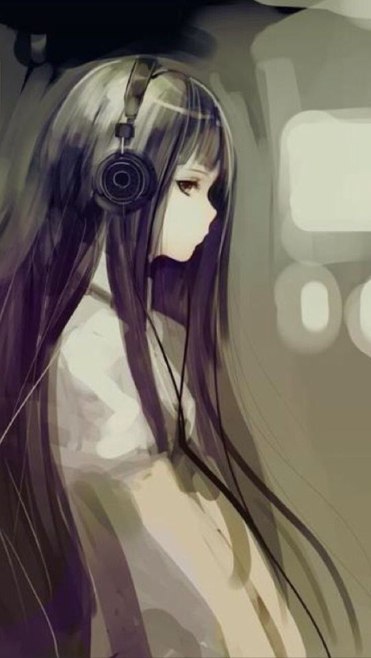 Listening To Music All Alone Anime Music