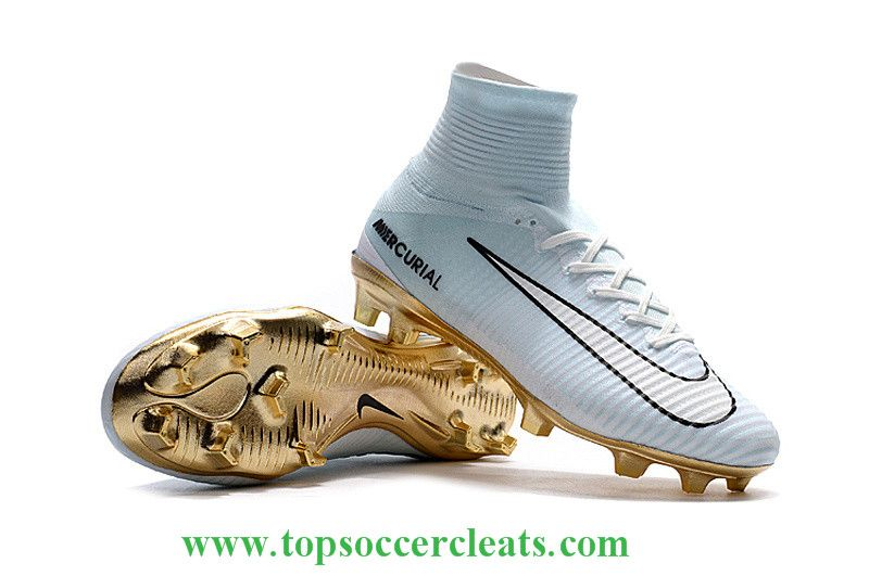 ee576d9992a 2016-17 Nike Mercurial Superfly V CR7 Vitórias FG Pure Platinum Gold  Metallic