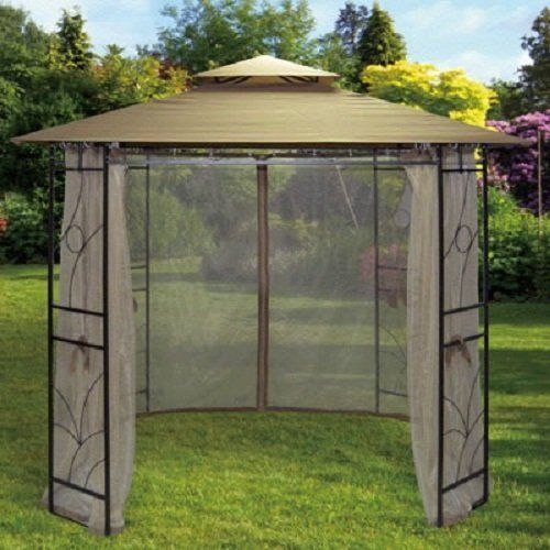 Steel Gazebo Waterproof Side Curtains 2.4m X 2.4m Canopy