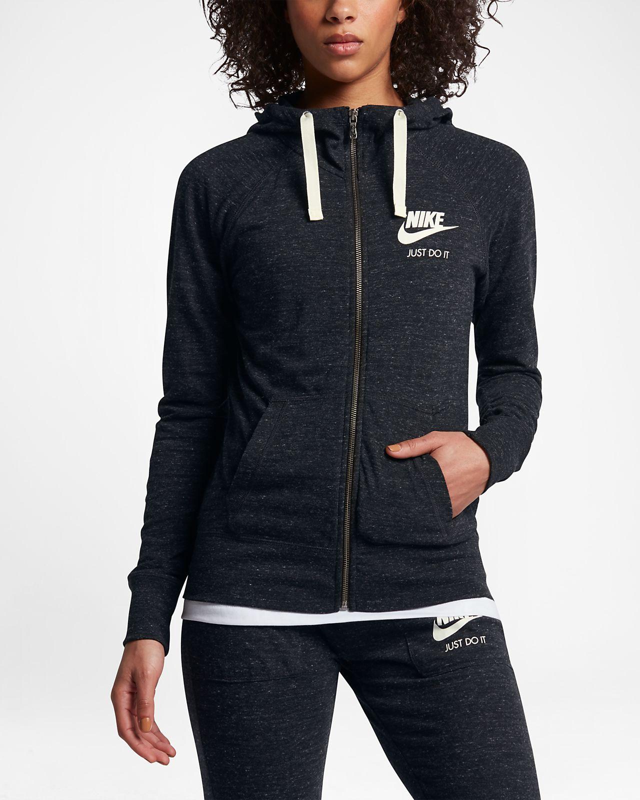 Nike sportswear gym vintage womenus fullzip hoodie things i want