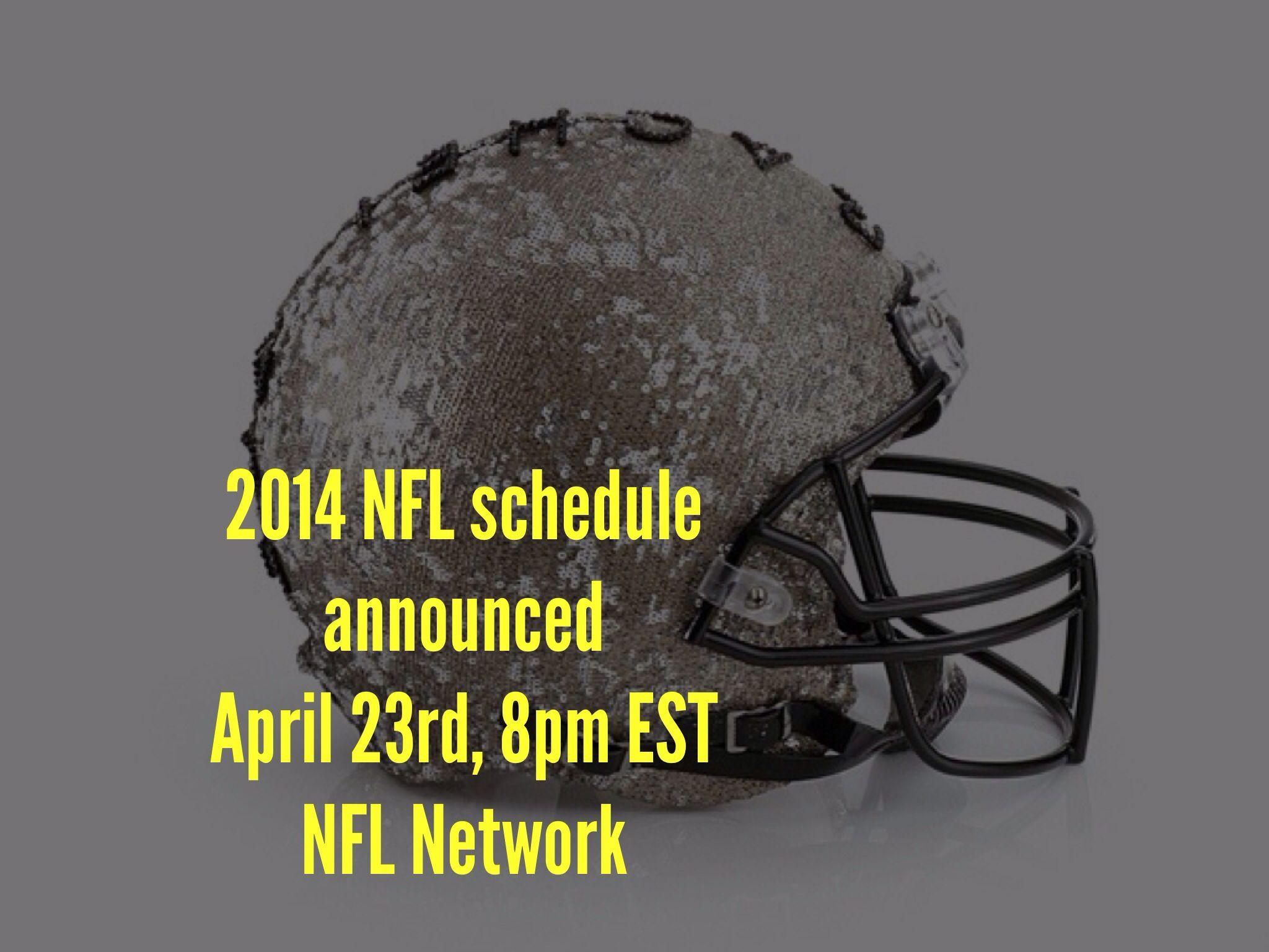 2014 @Paige Wilczek schedule announced on April 23rd, 8pm EST on NFL Network! #nfl #nflnetwork #FootballFashion #FootballGlam