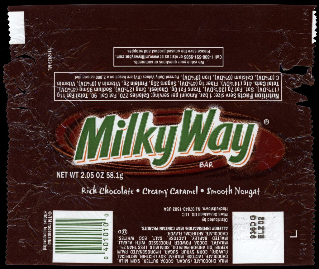 M&M-Mars - Milky Way chocolate candy bar wrapper - 2011 ...