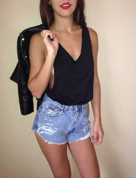 Vintage Calvin Klein High Waist Shorts $48