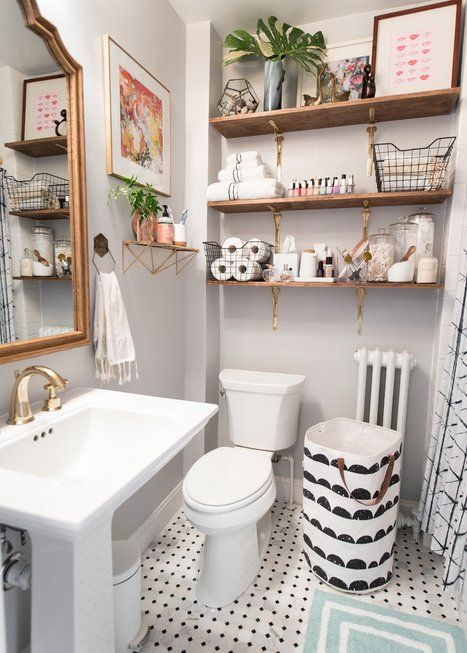 Eclectic Bathroom Design. Classic Small ...