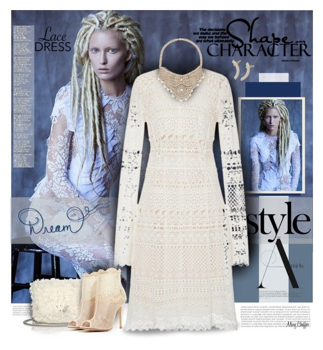 Pretty Lace Dress by mcheffer on Polyvore featuring Oscar de la Renta, Chinese Laundry, Akris, Catherine Stein, Bebe, Mercedes-Benz, Trilogy and lacedress