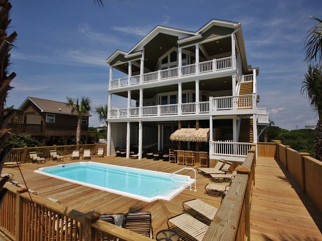 North Topsail Beach House Oceanfront 16 Bedrooms 18 Bath Sleeps 32 To 60