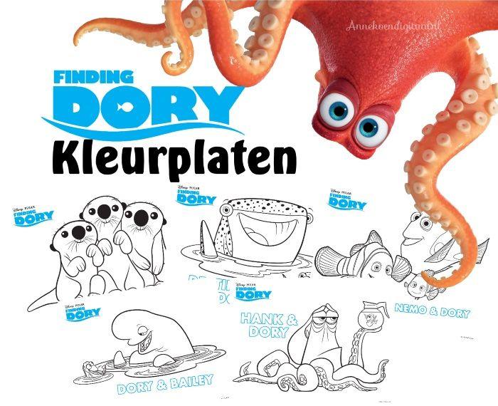 Finding Dory Kleurplaat Blogfeestje Pinterest Finding Dory