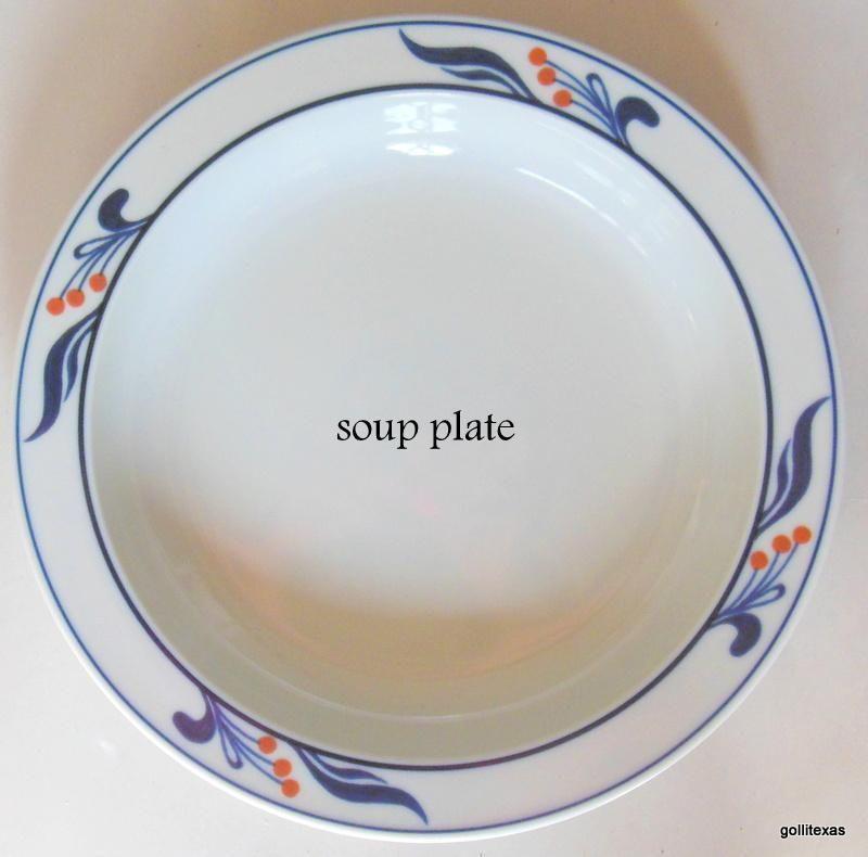 Dansk Bistro Maribo Blue Portugal Rim Soup Bowl 8\