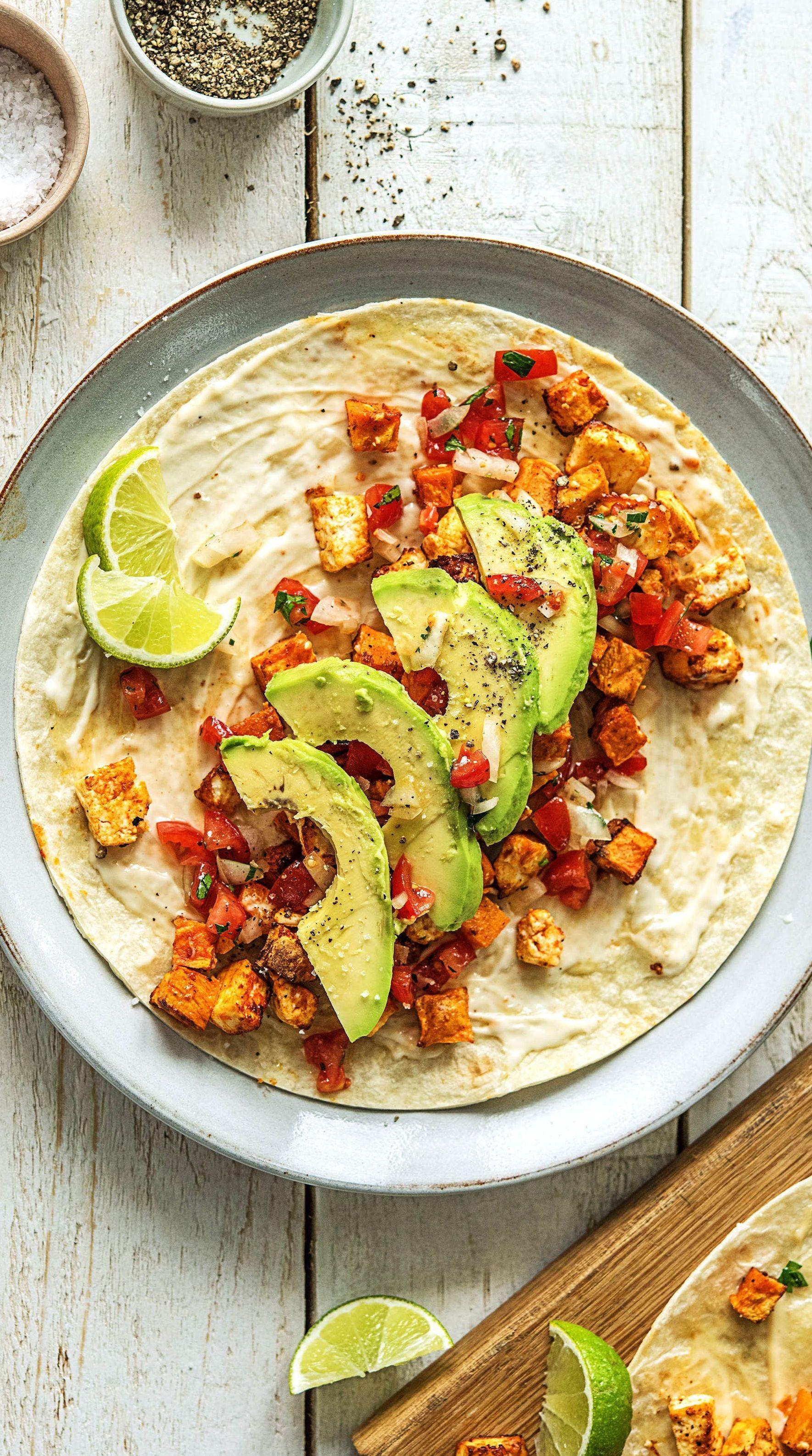 rauchige s kartoffel hirtenk se tacos mit selbst gemachter salsa und tabasco mayonnaise