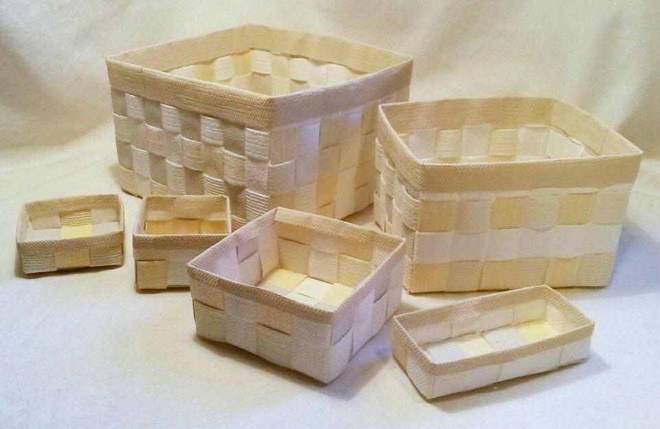Aufbewahrungsboxen 6tlg Geflochten Korb Box Badezimmer Kiste Handarbeit In 2020 Aufbewahrungsbox Geflochtener Korb Box