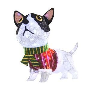 i pinned this from shopwikicom holiday living dog outdoor christmas decoration 511 141424050 0 our adorable mesh dog is a fun and whimsical addition to - Boston Terrier Outdoor Christmas Decoration