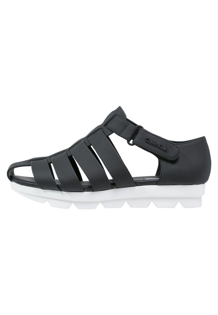 Calvin Klein Jeans Sandaly Na Platformie Black Zalando Pl Shoe Boots Sandals Black