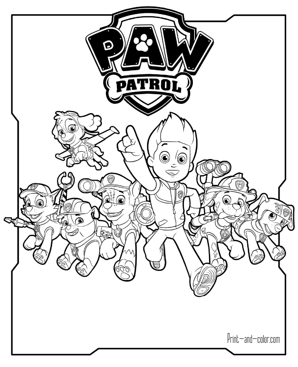 There are many high quality Paw Patrol coloring pages for