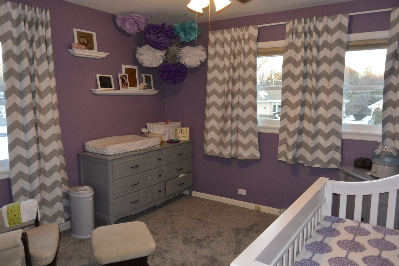 Little Miss A S Purple Grey And Teal Nursery Project