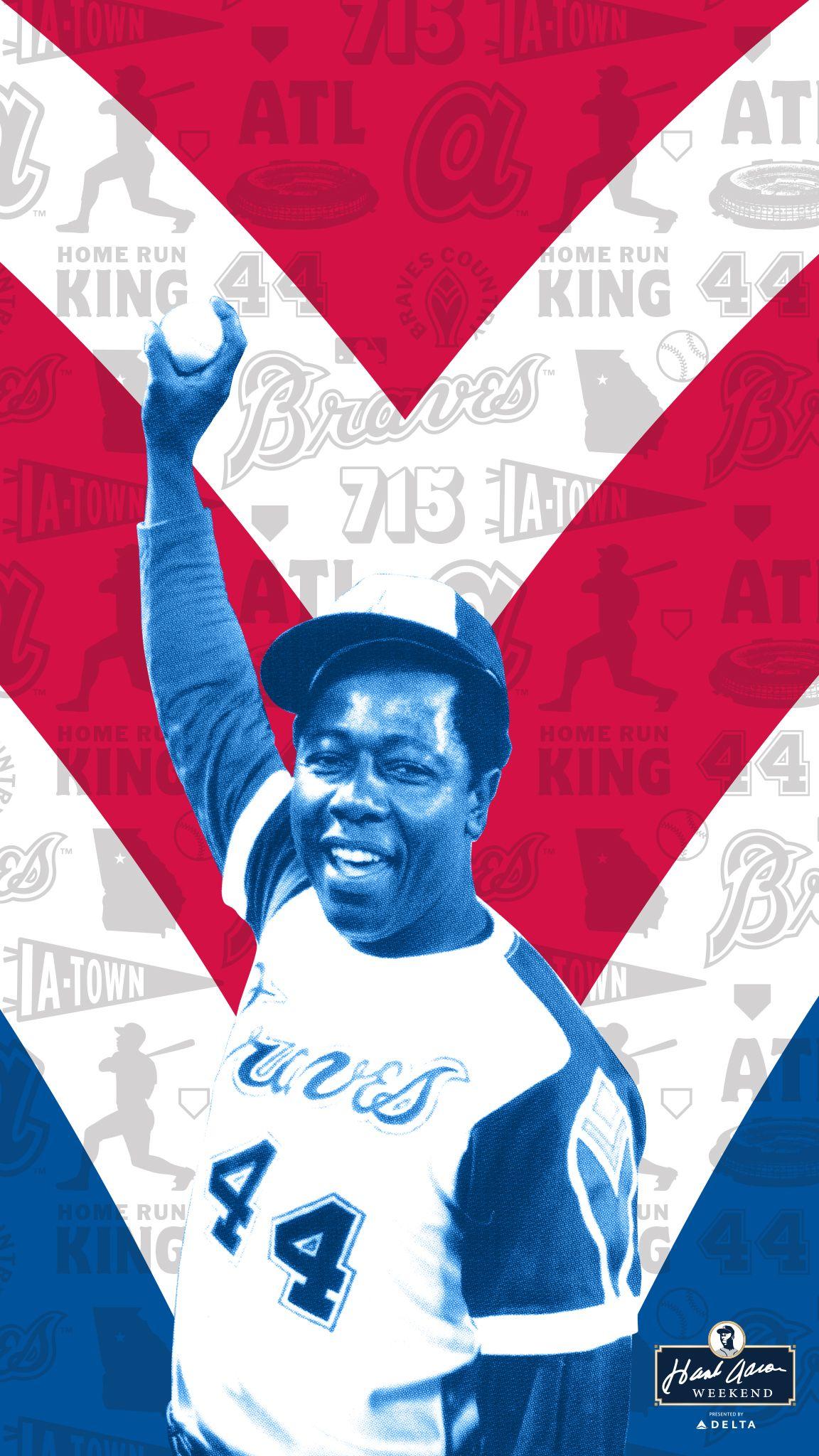 Hank Aaron Wallpaper In 2020 Atlanta Braves Braves Baseball Homerun