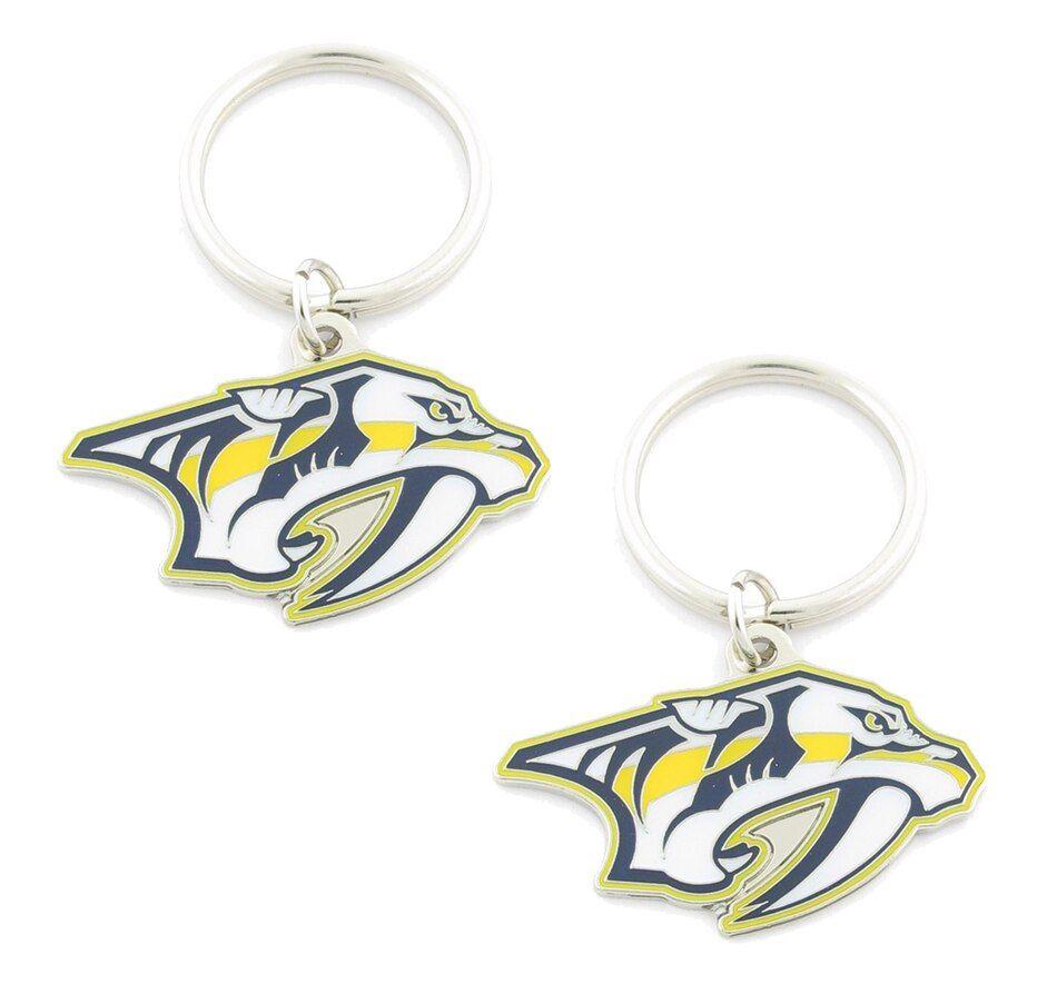 NHL Nashville Predators Logo Keychain Pair (2 Units)