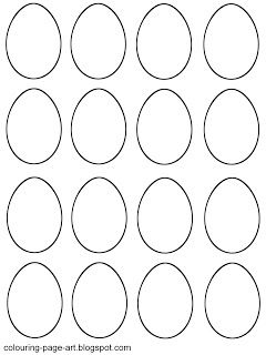 Colouring Page Art Blank Easter Egg Templates Easter Egg Template Egg Template Simple Easter Eggs