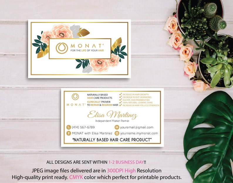 Custom Monat Business Card, Monat Business Cards