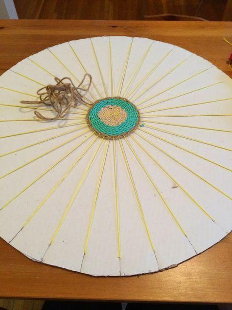 Teppich Selber Machen teppich selber machen weben rund matte kreisform deko ideen
