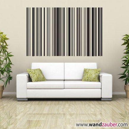 Wandzauber Wandtattoos mit barcodes geheimes Wort an die Wand ...