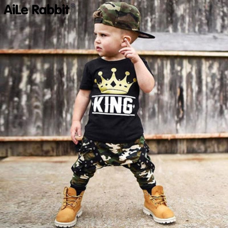 eb53a5056 AiLe Rabbit Toddler Kids Baby Boys Tops T-shirt Camo Pants 2Pcs Outfits Set  Clothes 0-5T Letter Crown Short Sleeve Camouflage. Yesterday's price: US  $12.71 ...