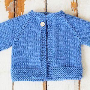 Comment tricoter un cardigan nouveau-né pour un modèle gratuit pour les débutants   – baby knitting