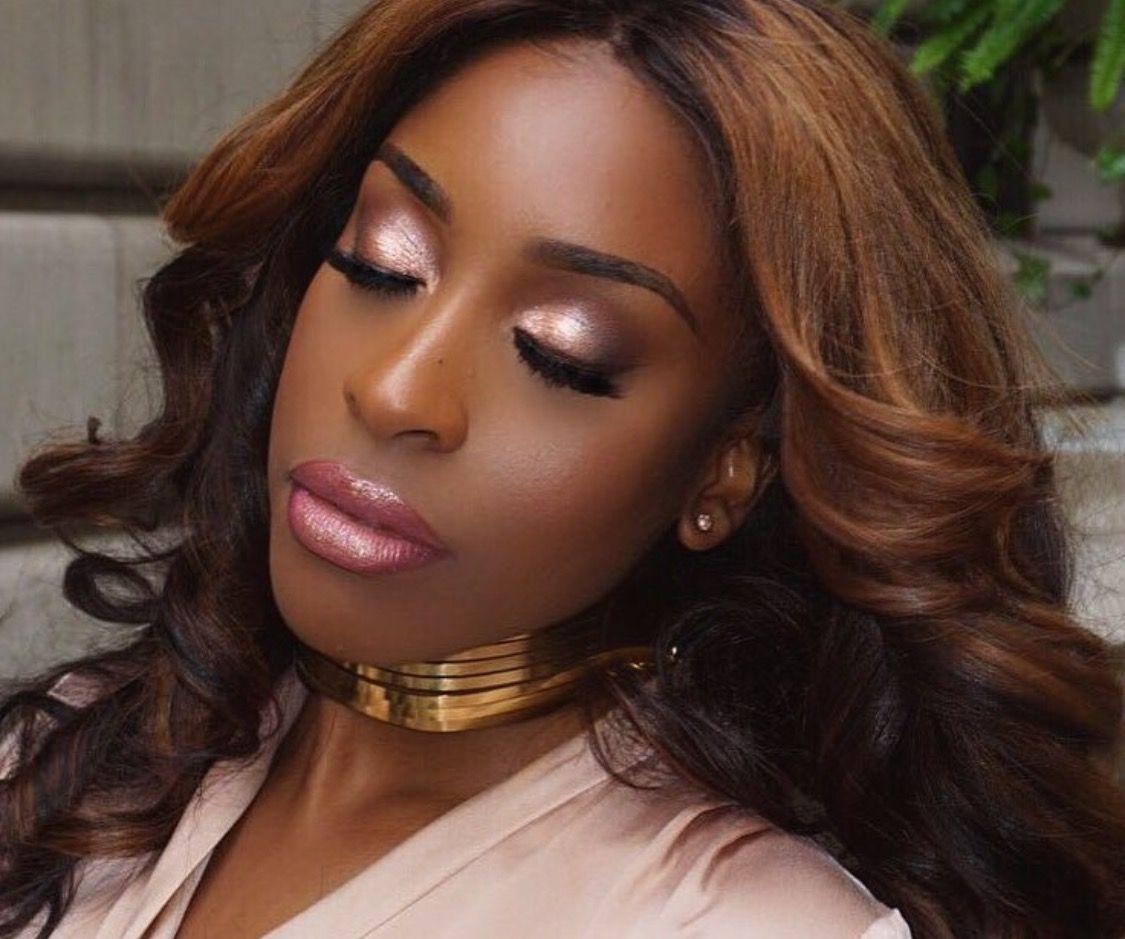 Makeup For Black Women Rose Gold Eye Makeup Dark Skin Makeup