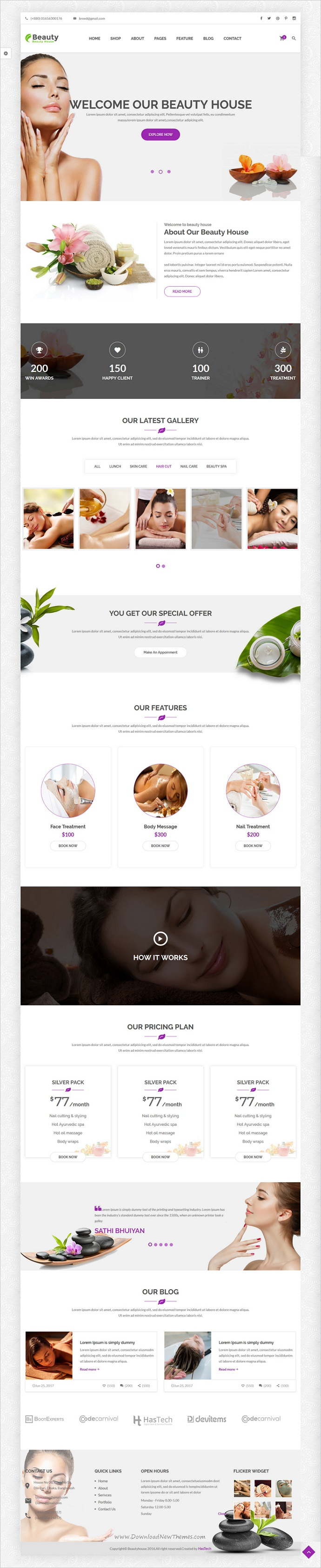 Beautyhouse - Health & Beauty HTML Template | Template, Web design ...