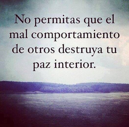 Que no destruya nadie tu paz interior