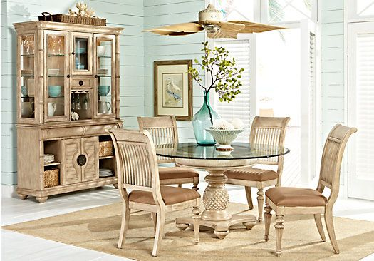 For A Cindy Crawford Key West Light Pine Round Dining Room At Rooms To Go Find Sets That Will Look Great In Your Home And Complement The