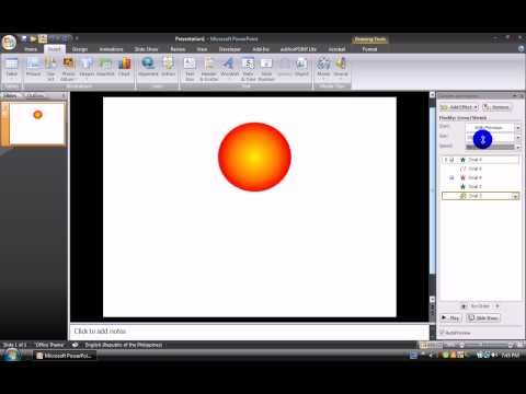19 how to make a firework animation in microsoft powerpoint 2007 youtube